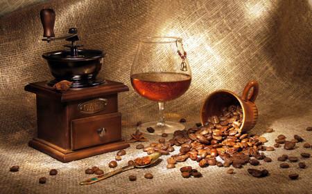 Маска с кофе и коньяком
